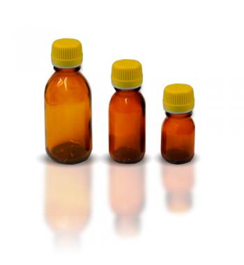 Botella CRISTAL AMBAR
